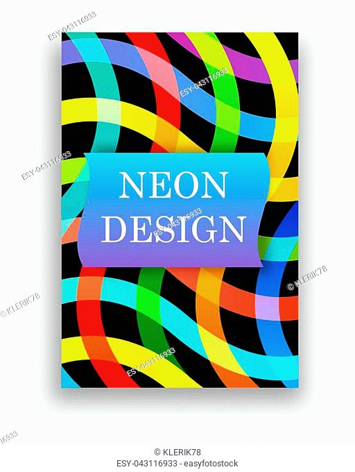 Abstract 3d liquid fluid color shape. Creative modern cover template. Vector illustration
