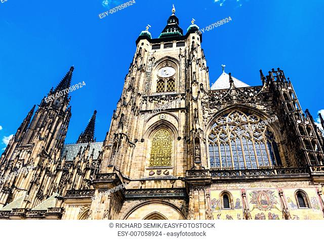 Cathedral of St. Vitus, Wenceslas and Vojtech in Prague Castle, Czech Republic