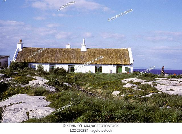 'The man of Aran' film house. Inishmore, one of the Aran Islands, Co. Galway. Ireland