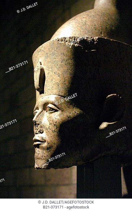 Sesostris III, head of statue in Luxor Museum. Egypt