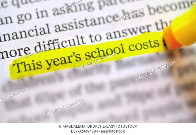 highlights on back to school costs