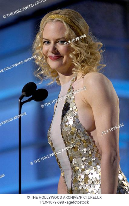 Telecast at the 61st Annual Golden Globe Awards 1-25-2004 Nicole Kidman, held at the Beverly Hilton Hotel in Beverly Hills, CA