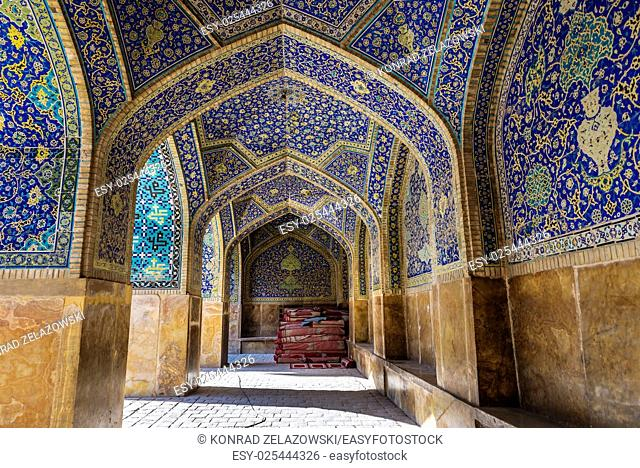 Interior of Shah Mosque also called Imam mosque in Isfahan city, Iran