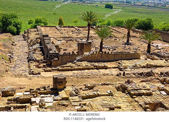 Ruins of Medina Azahara, palace built by caliph Abd al-Rahman III, Cordoba , Andalusia, Spain