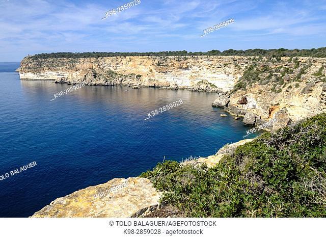 Ses Pedreres, Cap Blanc,. Coastline between Cala Pi and Cap Blanc, marina of llucmajor, Municipality of Llucmajor, Mallorca, balearic islands, spain, europe