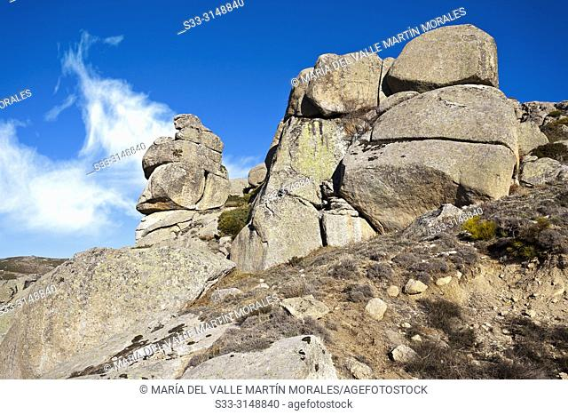 Granite rocls at Paramera. Navandrinal. Avila. Spain