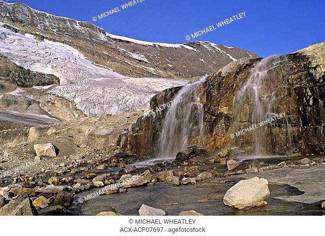 Waterfall, Emerald Glacier, Yoho National Park, British Columbia, Canada