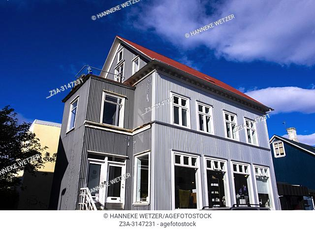 Traditional house in Reykjavic, Iceland