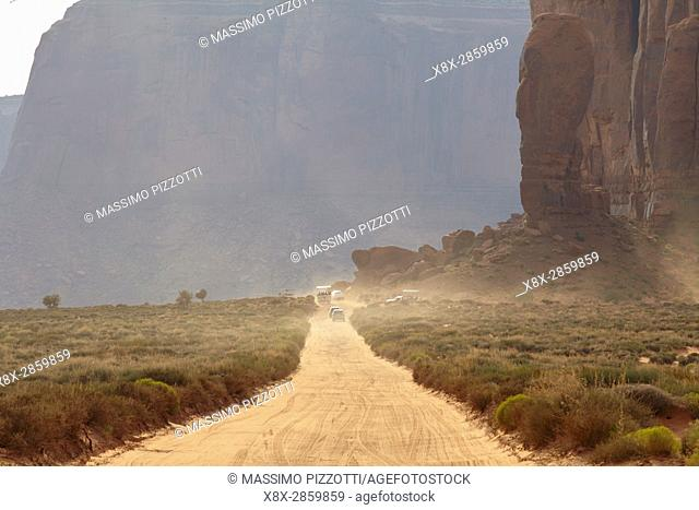 Dirty Road in the Monument Valley, Arizona, United States