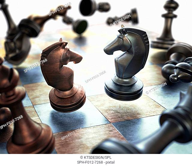 Chess pieces, Illustration