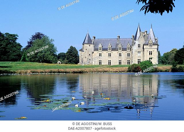 View of Chateau de Beaumanoir, Le Leslay, Brittany. France, 17th-18th century