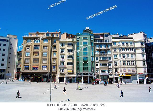 Taksim square, Beyoglu district, central Istanbul, Turkey, Eurasia