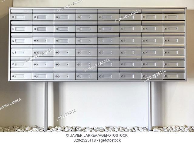 Mailboxes, Office building, PIA, Audiovisual Innovation Pole, Donostia, San Sebastian, Gipuzkoa, Basque Country, Spain