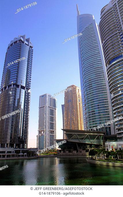 United Arab Emirates, U A E , UAE, Middle East, Dubai, Jumeirah Lake Towers, Platinum Tower, Almas Tower, Mohammed Ibrahim Tower, tall building, skyscraper