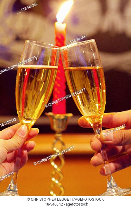 champagne toasting