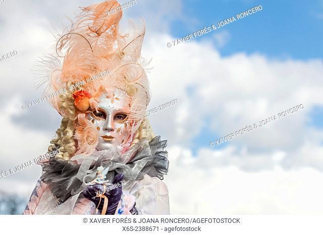 The famous Venetian Carnival of Annecy in Haute-Savoie, Rhône-Alpes, France