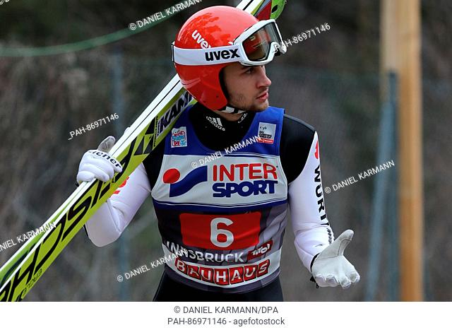 Markus Eisenbichler of Germany pictured at the Four Hills Tournament of the FIS Ski Jumping World Cup in Innsbruck, Austria, 4 January 2017