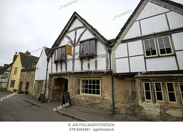 Sign of the Angel 15th century coaching inn and accommodation which was the babberton arms in harry potter Lacock village wiltshire england uk