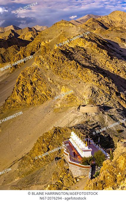 Thiksey Monastery, near Leh, Ladakh, Jammu and Kashmir State, India