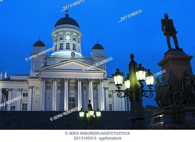 Helsinki lutheran cathedral in Helsinki Finland