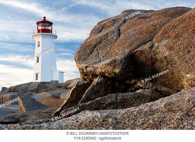 Peggy's Point Lighthouse (Composite Image for enhanced Depth-of-Field) - Peggy's Cove, Nova Scotia; Canada