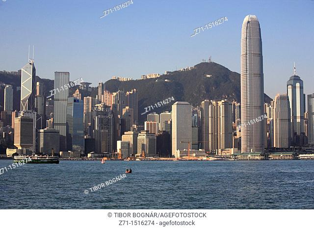 China, Hong Kong, Central District skyline
