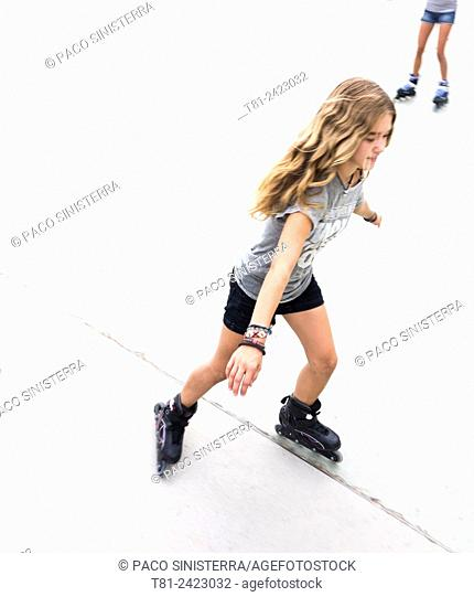 girl skating in Benidorm, Spain