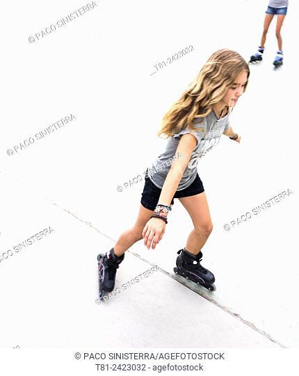 girl skating in Benidorm, Spain