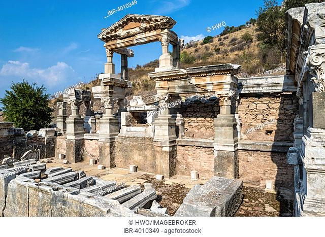 The Nymphaeum Traiani, fountains in honour of Emperor Trajan, ancient city of Ephesus, UNESCO World Heritage Site, Selçuk, Izmir Province, Turkey