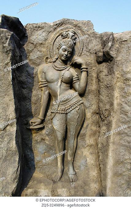 Ardhanari Nateshwar, Hadshi Temple, Sant Darshan Museum, near tikona Vadgoan Maval, District Pune, Maharashtra, India