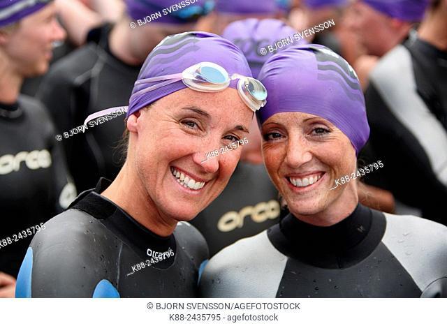 The annual Pier to Pub open water swimming race in Lorne. Victoria, Australia