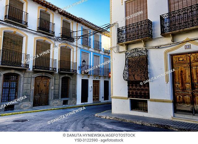 Plaza Mayor, historic part of city of Galera near Baza, mountainous region of northern Andalusia, between the Sierra Nevada and the Sierra de Castril