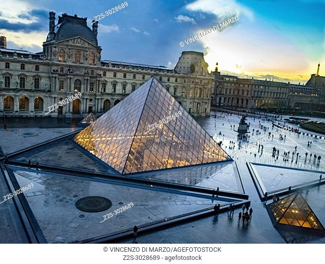 The Louvre Museum (in French Musée du Louvre, myze dy luv?) in Paris, France, is one of the most famous museums in the world and the third largest in terms of...