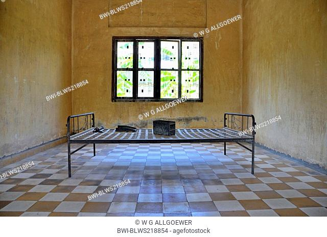 torture chamber, Tuol Sleng Genocide Museum, Cambodia, Phnom Penh