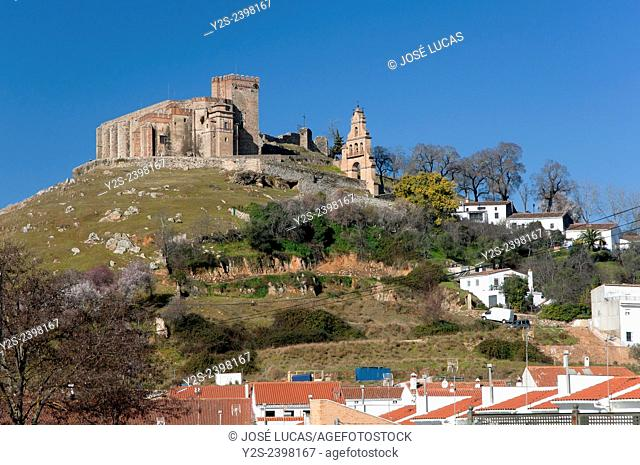Priory Church of the Castle-15th century- and town, Aracena, Huelva province, Region of Andalusia, Spain, Europe