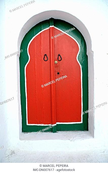Tunisia, Sidi Bou Said, painted door