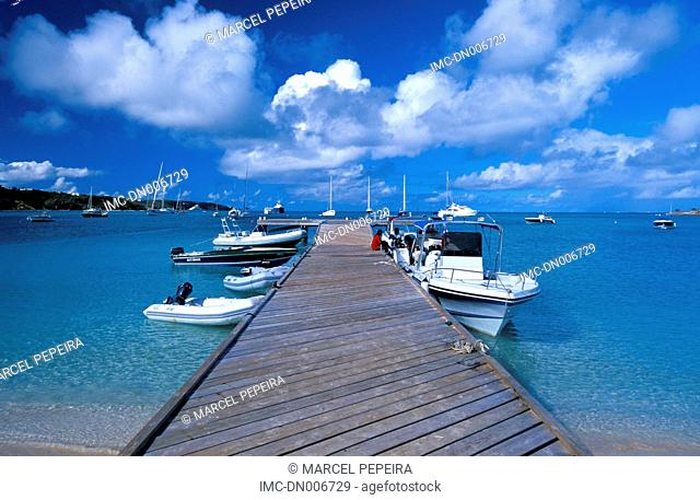 British west indies, caribbean, Anguilla island, pontoon