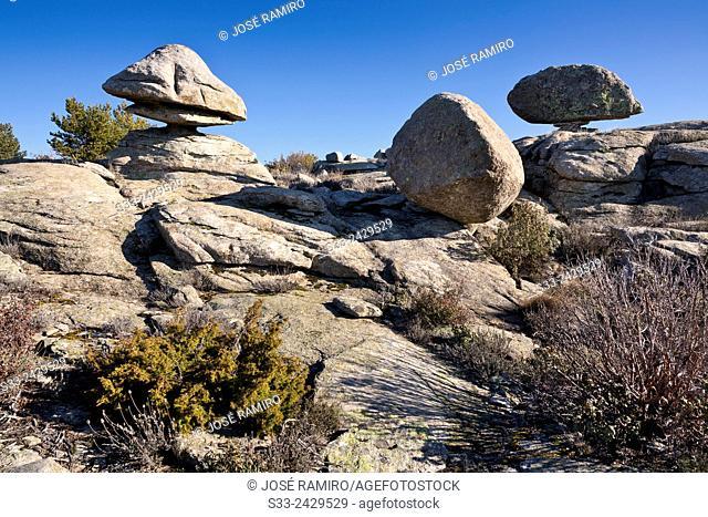 Cliffs on Hornillo hill. Bustarviejo. Madrid. Spain. Europe