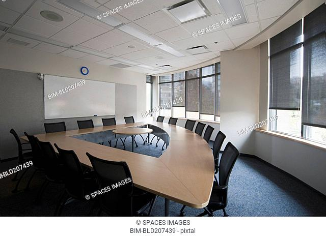 Empty boardroom or meeting room in an office