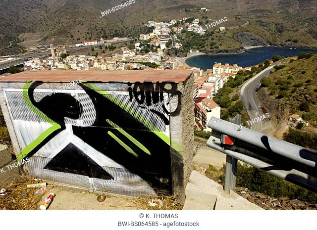 graffiti, France, Cote Vermeille