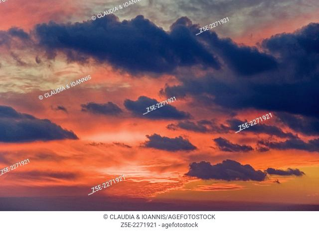 Cloudscape at sunset