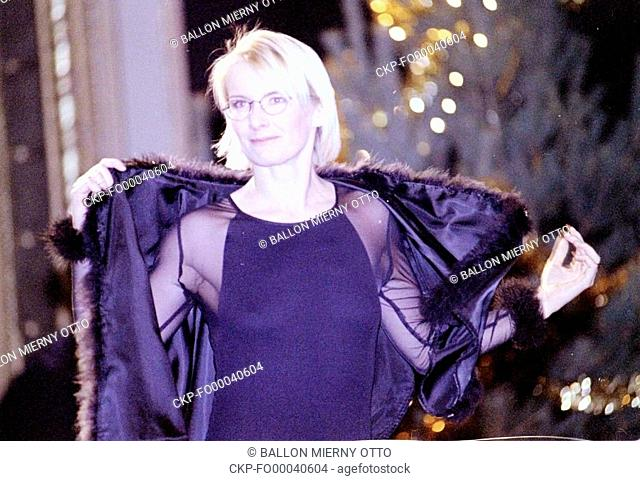 FILE PHOTO FROM December 6 1998 Jana Novotna of Czech Republic walks the runway during the fashion show prior to the BVV Open tennis tournament in Brno