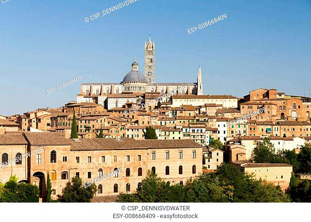 Siena cathedral cityscape