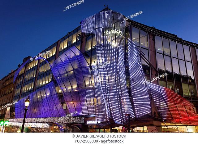 Publicis building, Champs Elysees, Paris, Ile-de-France, France