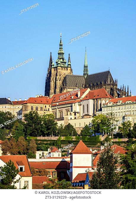 Saint Vitus Cathedral, Prague Castle, Prague, Bohemia Region, Czech Republic