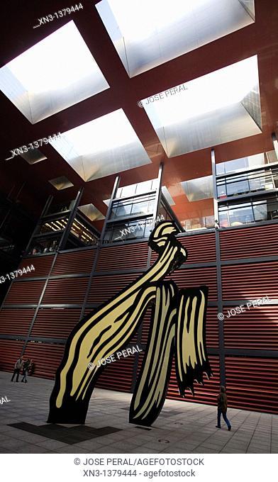 Brushstroke Sculpture, by Roy Lichtenstein, Reina Sofia, Modern Art Museum, Madrid, Spain