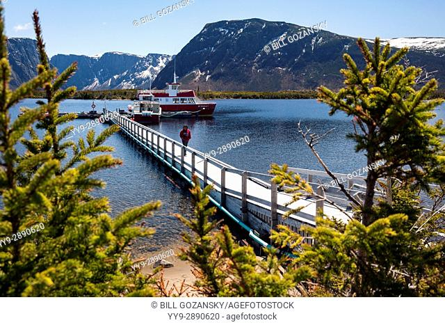 Boat Tours on Western Brook Pond, Gros Morne National Park, Newfoundland, Canada