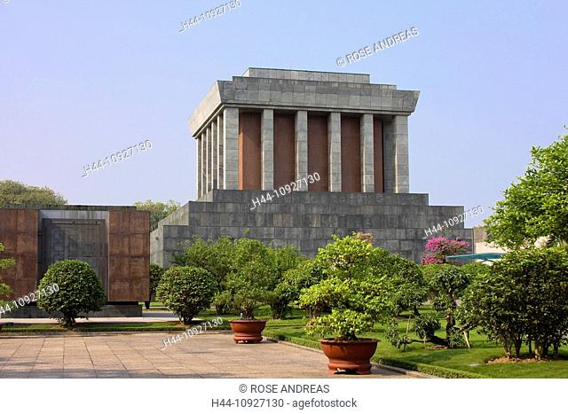 Asia, building, buildings, Chi, monument, building, construction, grave, tomb, Hanoi, Ho, Minh, mausoleum, president, resting place, South-East Asia, Vietnam
