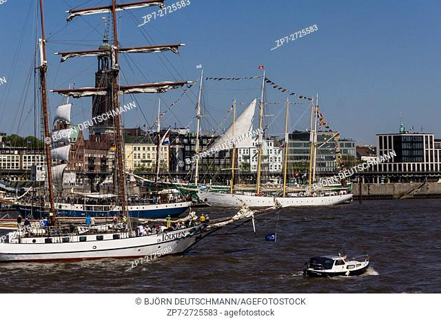 Hamburg, Germany - May 7th 2016: Impressions from the third day of Hamburg Harbor Birthday 2016
