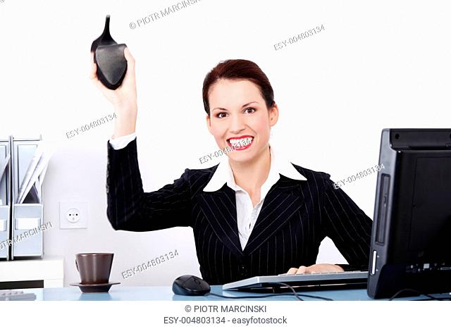 Mad Woman Throwing Shoe Stock Photos And Images Age Fotostock